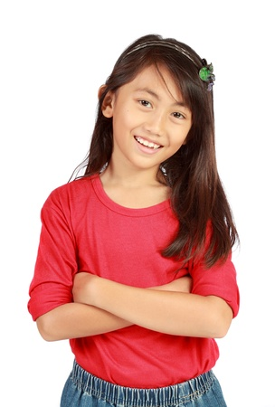 portrait of young cute little girl smiling Stock Photo - 10338962