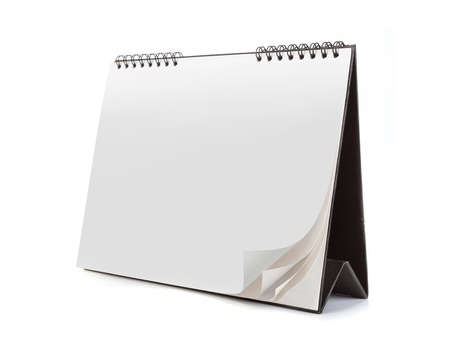 day planner: Blank calendar isolated on white background. ready for your new design