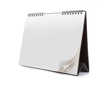 organizer page: Calendario en blanco aislada sobre fondo blanco. listo para su nuevo dise�o