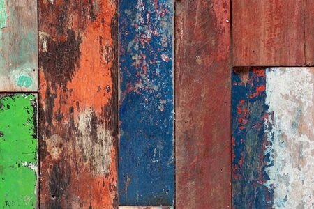 close up of old painted wood texture  photo