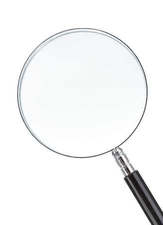 optical glass: magnifying glass isolated on white background