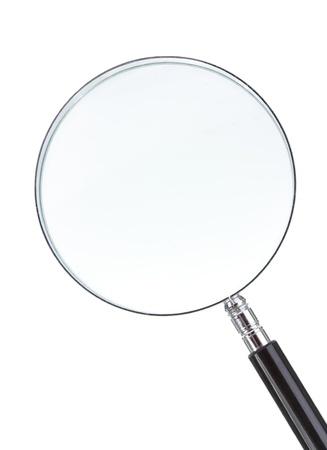 vergrootglas op witte achtergrond