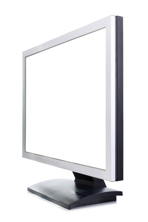 audiovisual: A white computer screen on a white background