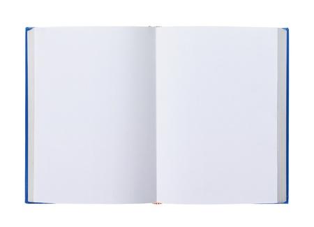 leeres buch: Er�ffnet Buch mit leeren Seiten isoliert �ber wei�em Hintergrund Lizenzfreie Bilder