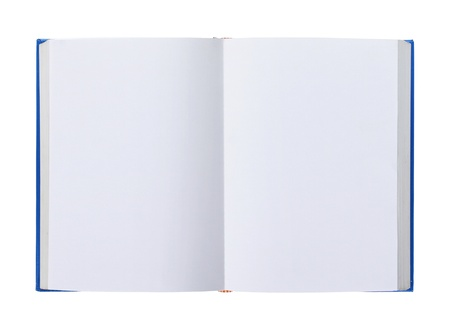 Opened book with blank pages isolated over white background Stock Photo - 10313981