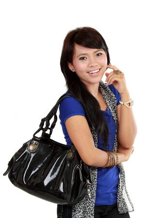 cassual woman Carrying Bag Stock Photo - 10761886