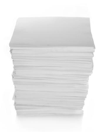 Paper Stack with path in isolated white background photo