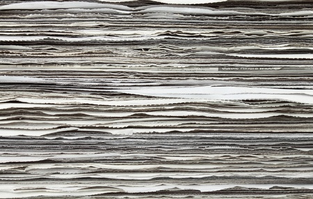 magazine stack: Stack of newspaper for background Stock Photo