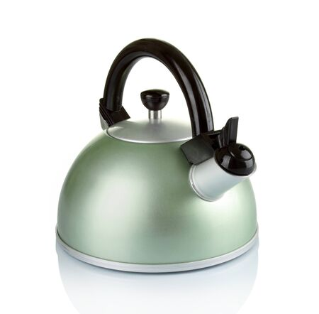 big series of images of kitchen ware. Kettle. in white background photo