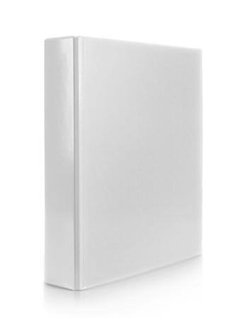 white binder on isolated white background photo
