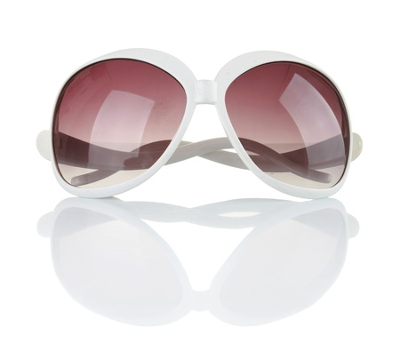 pretty sun glasses isolated on a white background photo