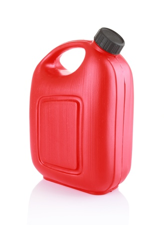 gallon: red jerry can isolated on a white background