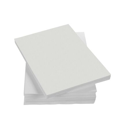stack of paper in isolated white background photo