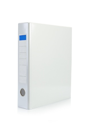 white binder stand alone in white background photo