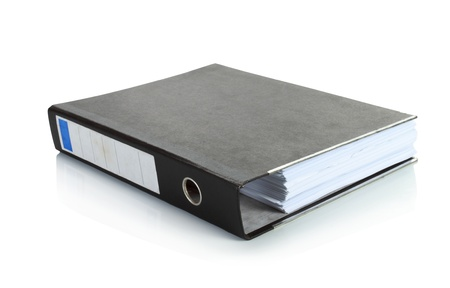 group  accountant: black binder stand alone in isolated background