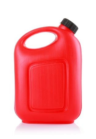 petrol can: Recipiente de aceite aislado en un fondo blanco Foto de archivo