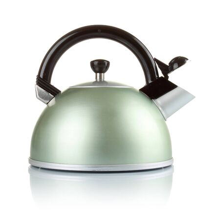 lacquer ware: big series of images of kitchen ware. Kettle isolated on white background