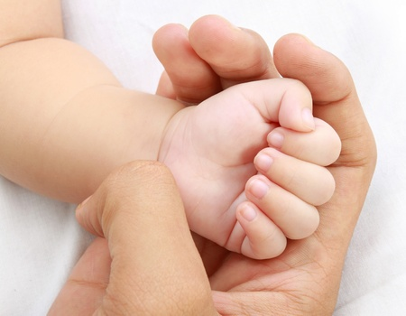 little baby hand with mother's hand Stock Photo - 11844906