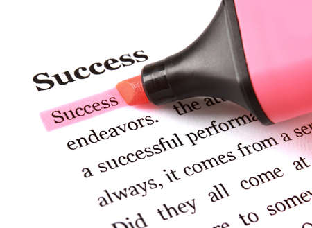 marker and word success - concept business background photo