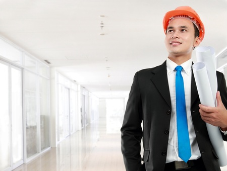 Handsome young asian man architect in a building Stock Photo - 12799164
