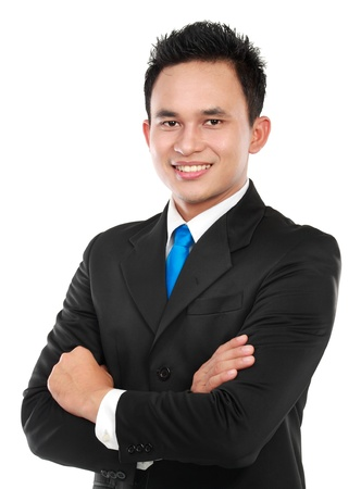 Portrait of a successful asian business man isolated over white background Stock Photo - 12809521