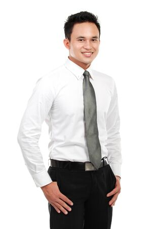 Portrait of a successful business man isolated on white background Stock Photo - 12809478