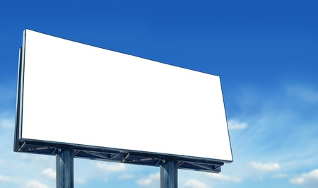 Blank billboard against blue sky, for more billboard visit our portfolio photo