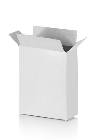 food cardboard box for new design on white background photo