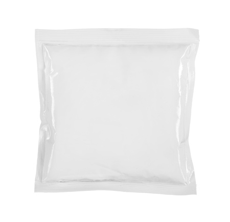 wrappers: blank white product packaging on white bacground