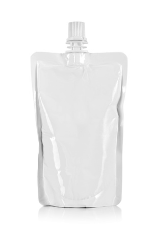 refill: blank pack of drink ready for your design. isolated over white background