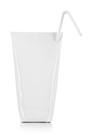 pouch: blank pack of drink ready for your design. isolated over white background