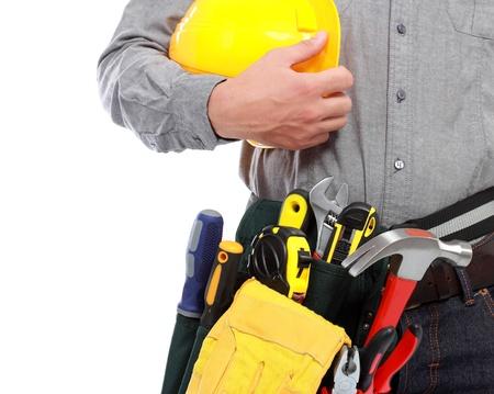 alicates: trabajador con equipo completo listo para trabajar Foto de archivo