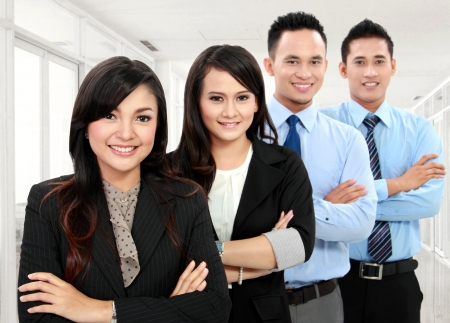 Portrait of a woman and man team in the office Stock Photo - 17064746