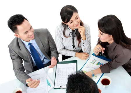 business man and woman working on the table in the office Stock Photo - 17064723