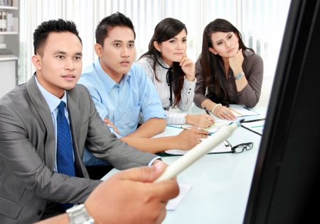 business team during presentation in the meeting room Stock Photo - 17064759