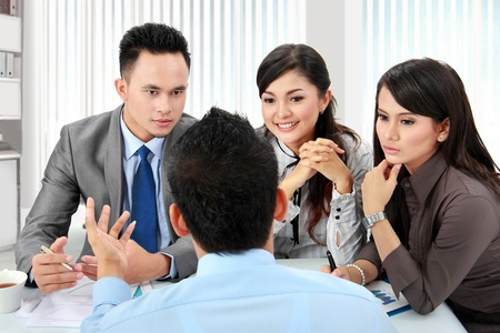 asian business man and woman meeting in the office Stock Photo - 17685331