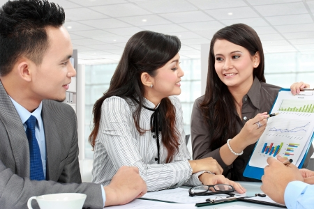 business man and woman discussion during meeting in the office Stock Photo - 17682399