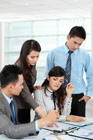 business man and woman discuss during meeting Stock Photo - 17683707