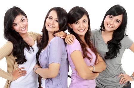 Portrait Group of happy teenagers having fun Stock Photo - 18121820