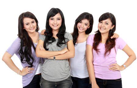 Portrait Group of happy teenagers having fun Stock Photo - 18121748
