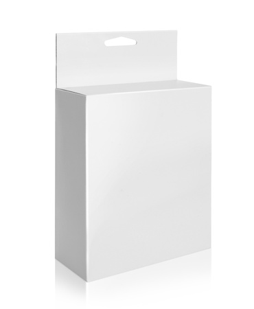 white Package Box. For Software and other products isolated over white background Stock Photo - 19282593