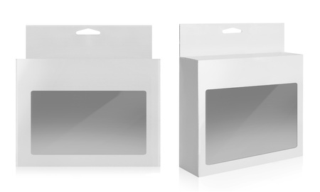 plastic box: White Product Package Box With isolated over white background