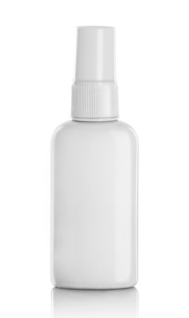 spray bottle: White container of spray bottle isolated over white background
