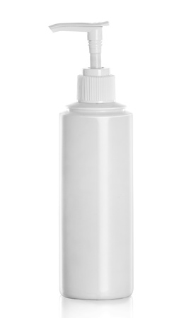 dispenser: Gel, Foam Or Liquid Soap Dispenser Pump Plastic Bottle isolated over white background