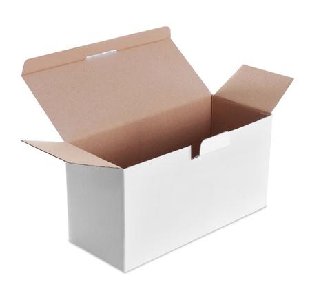 white empty box isolated on white background Stock Photo - 19477368