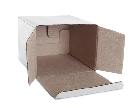 white empty box isolated on white background Stock Photo - 19477379