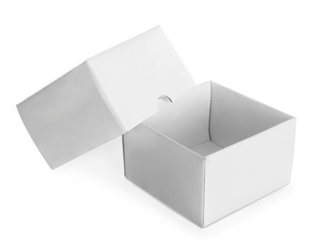 white empty box isolated on white background Stock Photo - 19477389