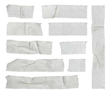 cintas: Las tiras de cinta adhesiva aislados en blanco Foto de archivo