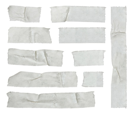 gaff: Strips of masking tape isolated on white