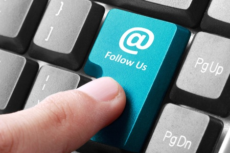 Closeup of follow us button on the keyboard Stock Photo - 20503782